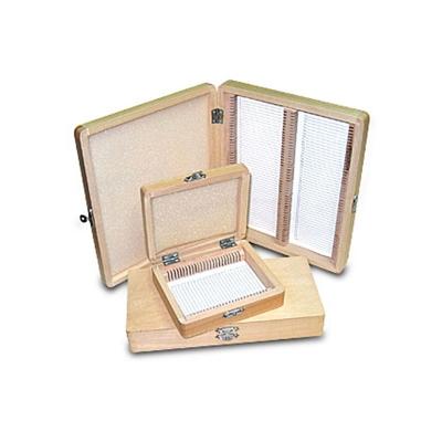 Caja Histológica De Madera  Para 50 Preparados