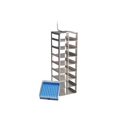 Rack Inóx Para 8 Cajas x100 Posiciones Para LS4800