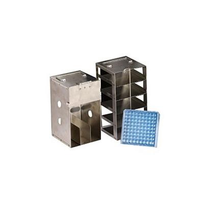 Rack Inóx Para 5 Cajas x100 Posiciones Para CXR500