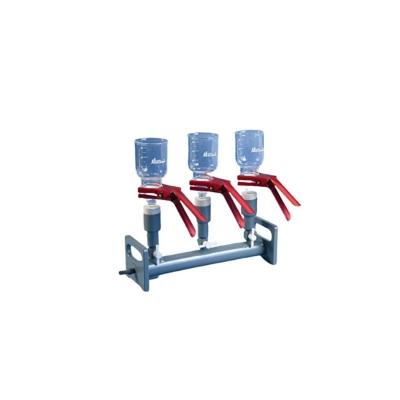 Manifold  PVM-3 Plástico PVC De 3 Bocas Con Embudo De 300ml