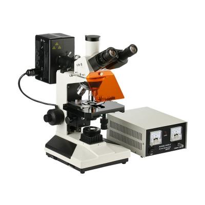 Microscopio Trinocular Epifluorescencia XSZ-107BNT-YX,  4 Objetivos 1000x, Lámpara Epi HBO, LED
