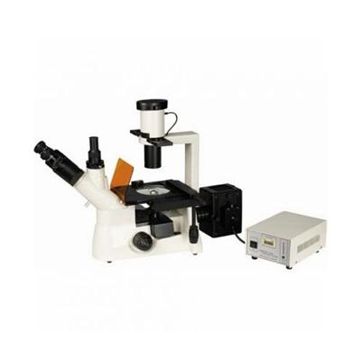 Microscopio Trinocular Biológico Invertido XYL-403, Óptica Plana Corregida A Infinito, Ph10x y Ph20x, Revólver Quíntuple, Epi HBO, Halógena