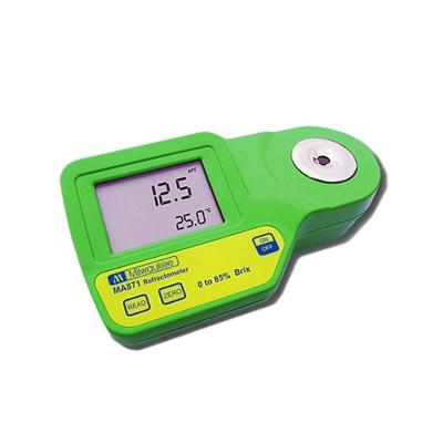 Refractómetro Digital  MA871 0  85 °Brix Con ATC